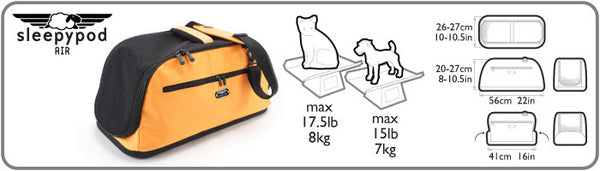Sleepypod Air pet weight allowance