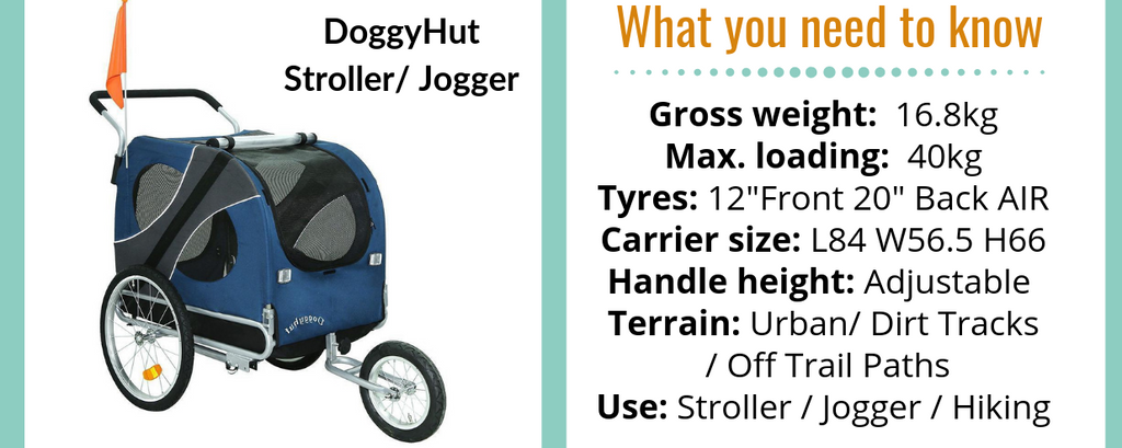 Doggy Hut Large Dog Stroller