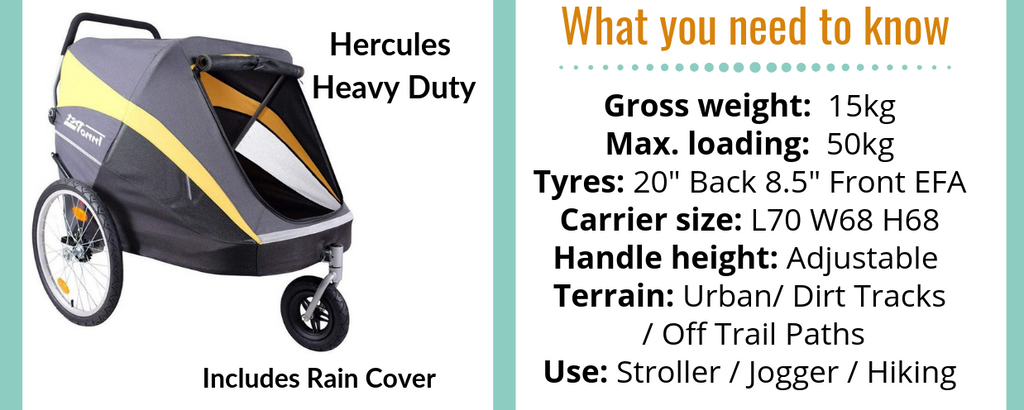 Hercules Dog Stroller for Large Dogs