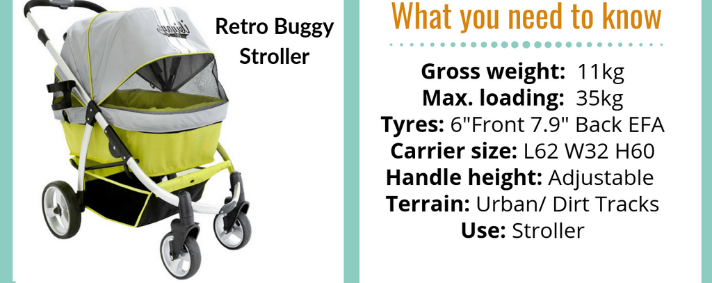 Retro Large Dog Stroller