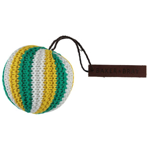 Baker & Bray Dog Toy One Size Baker & Bray | Knitted Ball Dog Squeaky Toy | Green/Yellow BB-90-02-03 PetsOwnUs - Pets Own Us
