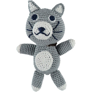 Baker & Bray Dog Toy One Size Baker & Bray | Knitted Cat Squeaky Dog Toy | Grey BB-90-03-01 PetsOwnUs - Pets Own Us
