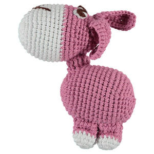 Baker & Bray Dog Toy One Size Baker & Bray | Knitted Donkey Squeaky Dog Toy | Pink BB-90-04-02 PetsOwnUs - Pets Own Us