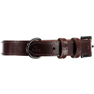 Baker & Bray Dog Apparel X-Small Camden Dog Collar and Lead Set by Baker & Bray - Chocolate BB-41-01-08-XS & BB-52-01-11 PetsOwnUs - Pets Own Us