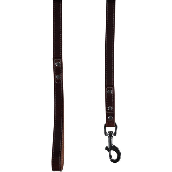 Baker & Bray Dog Apparel Default Title Camden Dog Lead by Baker & Bray - Chocolate BB-52-01-11 PetsOwnUs - Pets Own Us