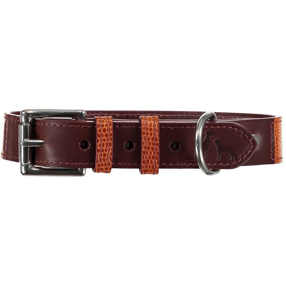 Baker & Bray Dog Apparel X-Small Chelsea Dog Collar by Bake & Bray - Tan Chestnut -XS PetsOwnUs - Pets Own Us