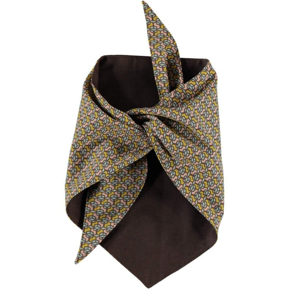Baker & Bray Dog Apparel Large Cubes Dog Bandana by Baker & Bray - Ceylon Pastel/Brown PetsOwnUs - Pets Own Us