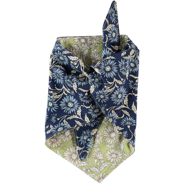 Baker & Bray Dog Apparel Large Daisy Dog Bandana by Baker & Bray - Green/Navy PetsOwnUs - Pets Own Us