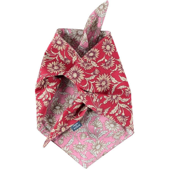 Baker & Bray Dog Apparel Large Daisy Dog Bandana by Baker & Bray - Pink/Red PetsOwnUs - Pets Own Us