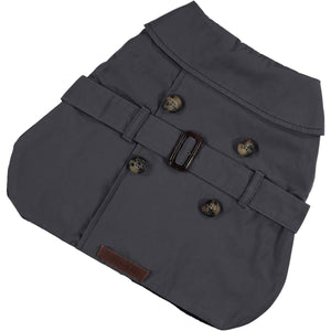 Baker & Bray Dog Apparel X Small Kensington Waterproof Trench Coat by Baker & Bray - Graphite BB-11-01-07-XS PetsOwnUs - Pets Own Us