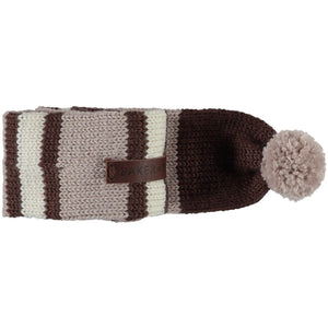 Baker & Bray Dog Apparel Medium Knitted Argyle Dog Scarf by Baker & Bray - Cappuccino BB-55-01-04-M PetsOwnUs - Pets Own Us