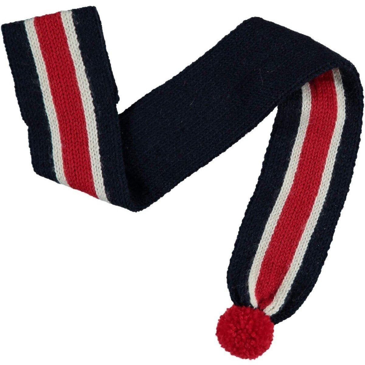 Baker & Bray Dog Apparel Medium Knitted Striped Dog Scarf by Baker & Bray - Navy/Red BB-55-01-06-M PetsOwnUs - Pets Own Us