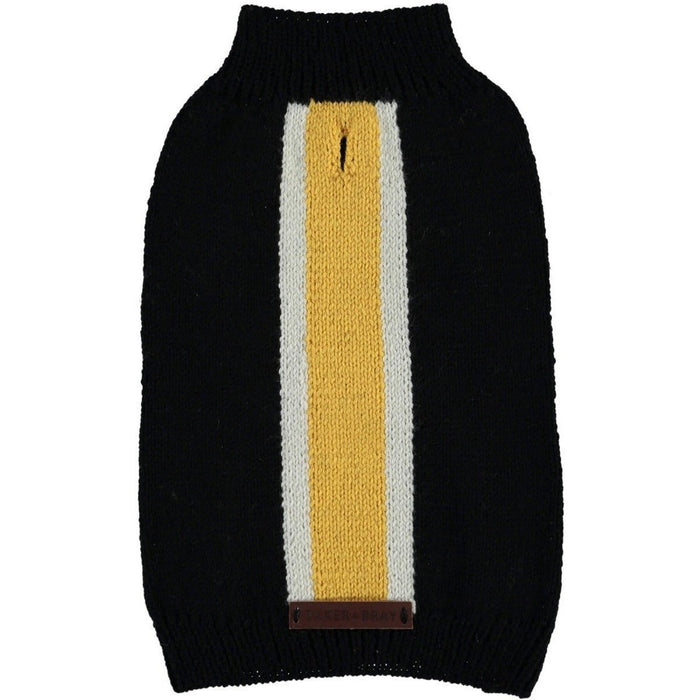 Knitted Striped Dog Sweater by Baker & Bray - Black/Yellow