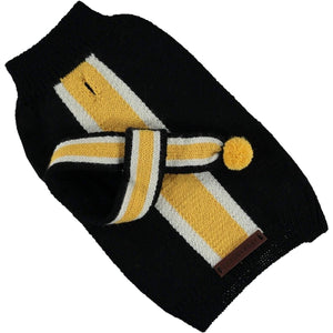 Baker & Bray Dog Apparel Small Knitted Striped Dog Sweater by Baker & Bray - Black/Yellow BB-50-01-04-S PetsOwnUs - Pets Own Us