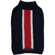 Baker & Bray Dog Apparel Small Knitted Striped Dog Sweater by Baker & Bray - Navy/Red BB-50-01-03-S PetsOwnUs - Pets Own Us