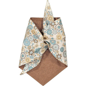 Baker & Bray Dog Apparel Large Lauren Dog Bandana by Baker & Bray - Brown PetsOwnUs - Pets Own Us