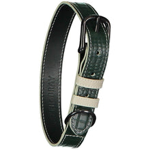 Baker & Bray Dog Apparel X-Small Paris Croc Dog Collar by Baker & Bray - Green/Stone -XS PetsOwnUs - Pets Own Us