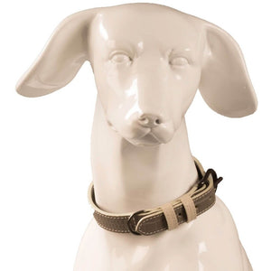 Baker & Bray Dog Apparel X-Small Paris Croc Dog Collar by Baker & Bray - Grey/Stone -XS PetsOwnUs - Pets Own Us