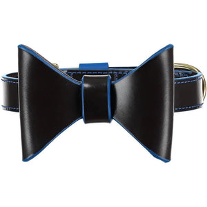 Baker & Bray Dog Apparel Small Pimlico Dog Bow Tie by Baker & Bray - Black/Blue BB-53-01-01-S PetsOwnUs - Pets Own Us