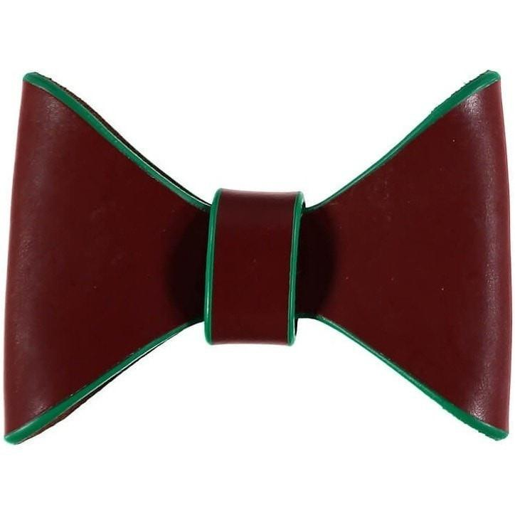 Baker & Bray Dog Apparel Small Pimlico Dog Bow Tie by Baker & Bray - Tan/Green BB-53-01-02-S PetsOwnUs - Pets Own Us