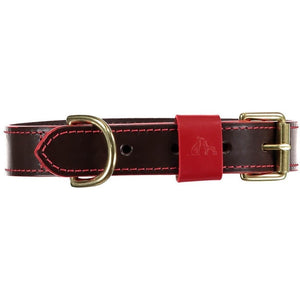 Baker & Bray Dog Apparel X Small Pimlico Dog Collar, Lead and Bow Tie Set By Baker & Bray - Chocolate/Red BB-41-01-12-XS & BB-52-01-09 & BB-53-01-03-S PetsOwnUs - Pets Own Us