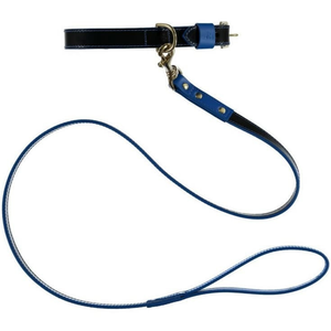Baker & Bray Dog Apparel X-Small Pimlico Dog Collar & Lead Set by Baker & Bray -  Black/Blue BB-41-01-10-XS & BB-52-01-07 PetsOwnUs - Pets Own Us