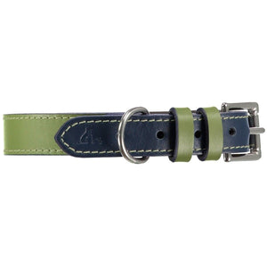 Baker & Bray Dog Apparel X-Small Richmond Dog Collar by Baker & Bray -  Aloe/Cosmo BB-41-01-13-XS PetsOwnUs - Pets Own Us