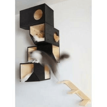 Catissa Cat Furniture Default Title Catissa Climbing Cat Tower and Tree with Stairs - Black PetsOwnUs - Pets Own Us