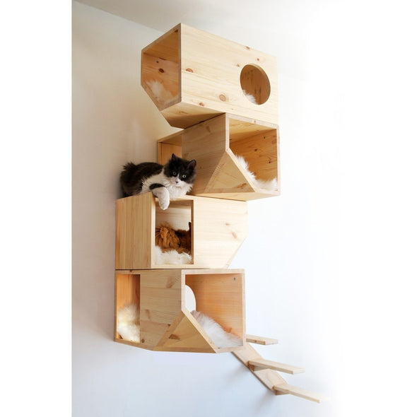 Catissa Cat Furniture Default Title Catissa Climbing Cat Tower and Tree with Stairs - Natural PetsOwnUs - Pets Own Us
