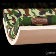 Cosy and Dozy Cat Shelf- Bed CHILL Cat Shelf & Perch By Cosy and Dozy - Green CAMO & Maple PetsOwnUs - Pets Own Us