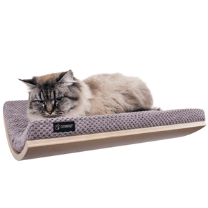 Cosy and Dozy Cat Shelf- Bed Maple CHILL Cat Shelf & Perch By Cosy and Dozy - Soft Cappucinno PetsOwnUs - Pets Own Us