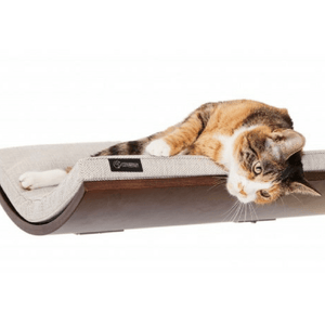 Cosy and Dozy Cat Shelf- Bed Walnut CHILL Cat Shelf & Perch By Cosy and Dozy - Tweed White PetsOwnUs - Pets Own Us