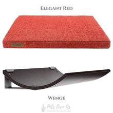 Cosy and Dozy Cat Shelf- Bed Elegant Red CHILL Cat Shelf & Perch By Cosy and Dozy - Wenge (Cushions available in Multiple Colours) PetsOwnUs - Pets Own Us