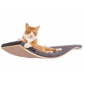 Cosy and Dozy Cat Shelf- Bed Maple CHILL Deluxe Cat Shelf & Perch By Cosy and Dozy - Dark Grey PetsOwnUs - Pets Own Us