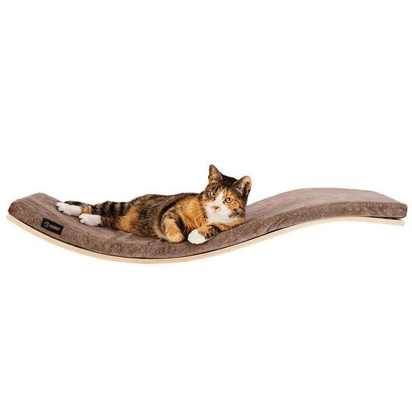 Cosy and Dozy Cat Shelf- Bed Maple CHILL Deluxe Cat Shelf & Perch By Cosy and Dozy - Light Brown PetsOwnUs - Pets Own Us