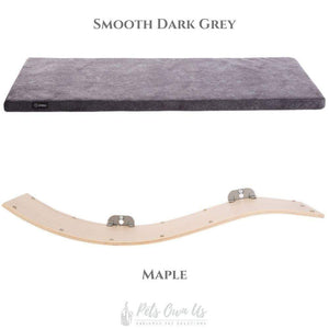 Cosy and Dozy Cat Shelf- Bed Smooth Dark Grey CHILL DELUXE Cat Shelf & Perch By Cosy and Dozy - Maple (Cushions available in Multiple Colours) PetsOwnUs - Pets Own Us