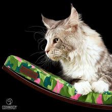 Cosy and Dozy Cat Shelf- Bed CHILL DELUXE Cat Shelf & Perch By Cosy and Dozy - Pink CAMO & Wenge PetsOwnUs - Pets Own Us