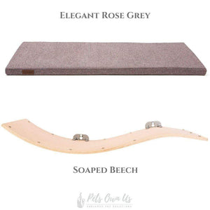 Cosy and Dozy Cat Shelf- Bed Elegant Rose Grey CHILL DELUXE Cat Shelf & Perch By Cosy and Dozy - Soaped Beech (Cushions available in Multiple Colours) PetsOwnUs - Pets Own Us