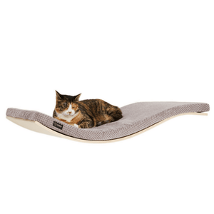 Cosy and Dozy Cat Shelf- Bed Maple CHILL Deluxe Cat Shelf & Perch By Cosy and Dozy - Soft Cappuccino PetsOwnUs - Pets Own Us