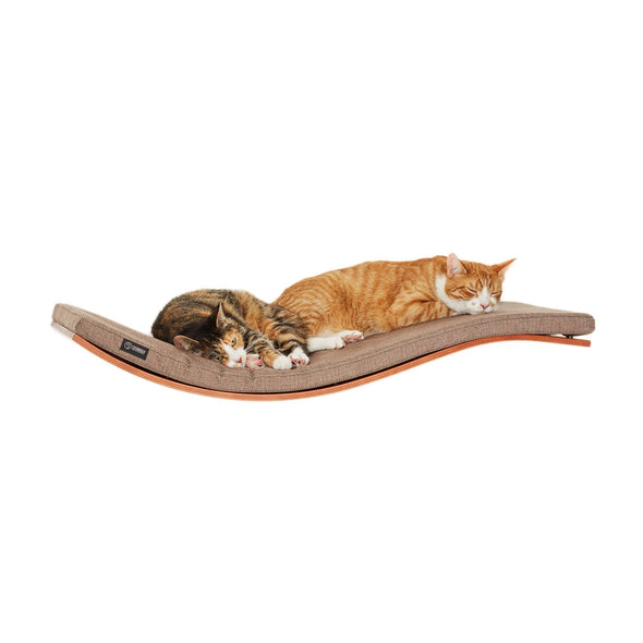 Cosy and Dozy Cat Shelf- Bed Walnut CHILL Deluxe Cat Shelf & Perch By Cosy and Dozy - Tweed Bronze PetsOwnUs - Pets Own Us