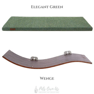 Cosy and Dozy Cat Shelf- Bed Elegant Green CHILL DELUXE Cat Shelf & Perch By Cosy and Dozy - Wenge (Cushions available in Multiple Colours) PetsOwnUs - Pets Own Us