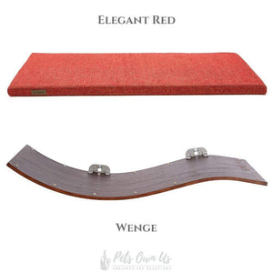 Cosy and Dozy Cat Shelf- Bed Elegant Red CHILL DELUXE Cat Shelf & Perch By Cosy and Dozy - Wenge (Cushions available in Multiple Colours) PetsOwnUs - Pets Own Us