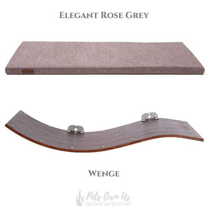 Cosy and Dozy Cat Shelf- Bed Elegant Rose Grey CHILL DELUXE Cat Shelf & Perch By Cosy and Dozy - Wenge (Cushions available in Multiple Colours) PetsOwnUs - Pets Own Us