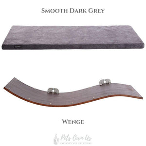 Cosy and Dozy Cat Shelf- Bed Smooth Dark Grey CHILL DELUXE Cat Shelf & Perch By Cosy and Dozy - Wenge (Cushions available in Multiple Colours) PetsOwnUs - Pets Own Us