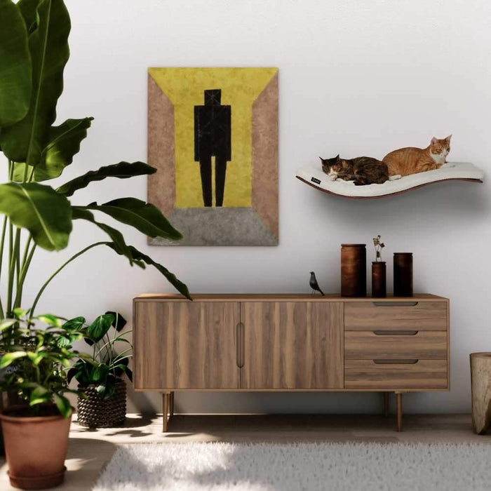CHILL DELUXE Cat Shelf & Perch By Cosy and Dozy - Wenge (Cushions available in Multiple Colours)