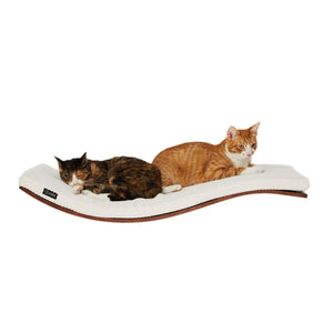 Cosy and Dozy Cat Shelf- Bed Walnut CHILL Deluxe Cat Shelf & Perch By Cosy and Dozy - White PetsOwnUs - Pets Own Us