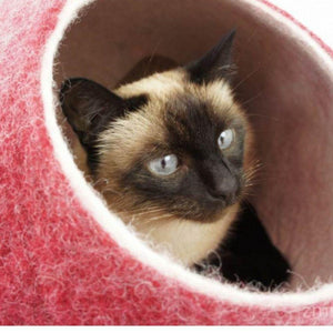 Cosy and Dozy Cat Cave KIVIKIS Luxury Cat Cave by Cosy & Dozy - Burgundy PetsOwnUs - Pets Own Us