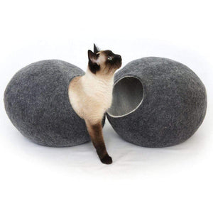Cosy and Dozy Cat Cave KIVIKIS Luxury Cat Cave by Cosy & Dozy - Dark Grey PetsOwnUs - Pets Own Us