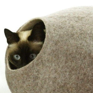 Cosy and Dozy Cat Cave KIVIKIS Luxury Cat Cave by Cosy & Dozy - Sand Brown PetsOwnUs - Pets Own Us