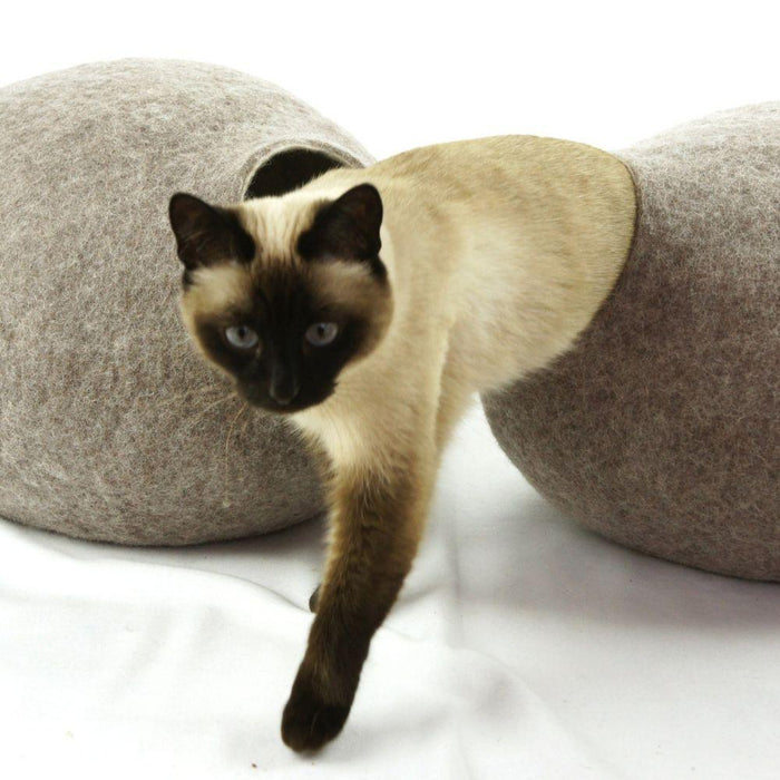 KIVIKIS Luxury Cat Cave by Cosy & Dozy - Sand Brown
